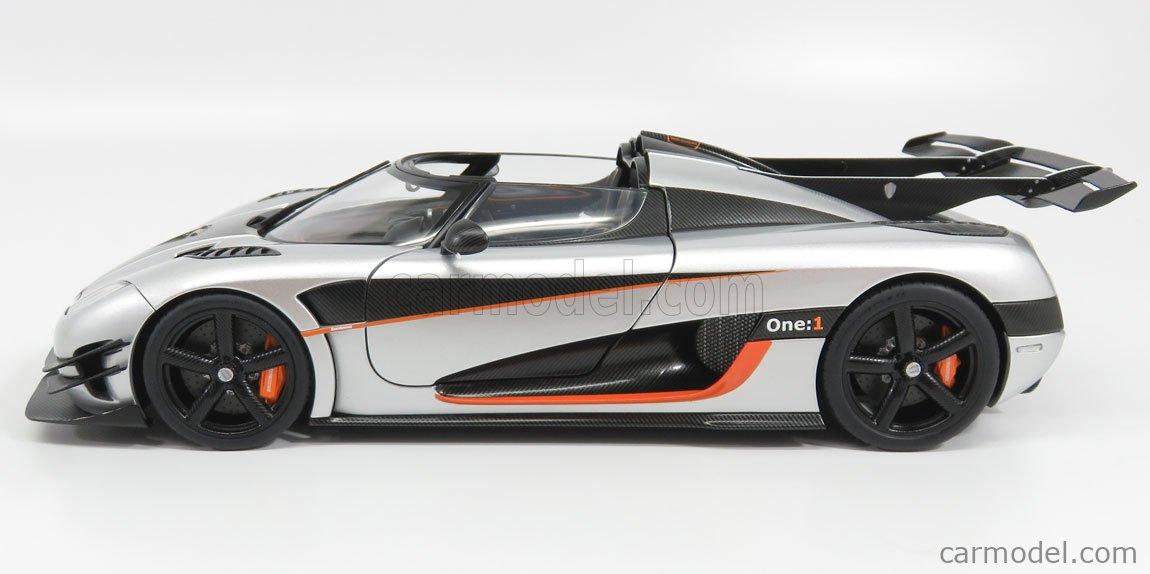 AUTOART 79017 Scale 1/18  KOENIGSEGG 1 ONE 2014 SILVER BLACK