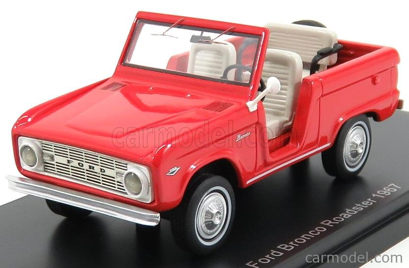 NEO SCALE MODELS NEO47210 Scale 1/43  FORD USA BRONCO ROADSTER 1967 RED