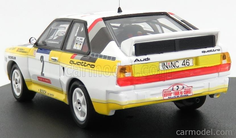 B Darniche 1//43 Scale Trofeu 1621 Audi Quattro Tour de Corse Rally 1984