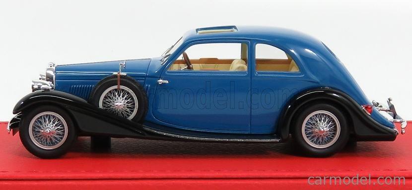 EVRAT EVR214 Masstab: 1/43  BUGATTI T57 PROFILE JAMES YOUNG sn57158 ORIGINAL VERSION 1938 2 TONE BLUE