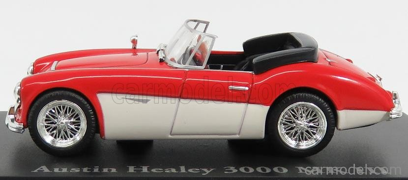 EDICOLA 4656105 Escala 1/43  AUSTIN HEALEY 3000 MKIII SPIDER OPEN 1961 RED WHITE