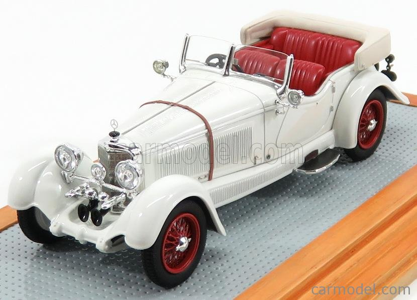 ILARIO-MODEL IL43124 Масштаб 1/43  MERCEDES BENZ S-TYPE 26/180 sn35920 SPORTS TOURER BUHNE GLASER CABRIOLET OPEN ORIGINAL CAR 1928 WHITE