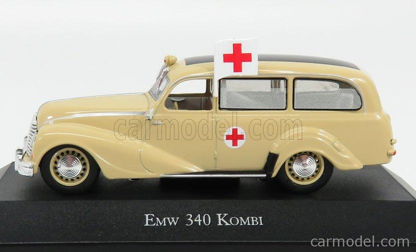 EDICOLA 7495003 Scale 1/43  EMW 340 KOMBI AMBULANCE 1953 CREAM