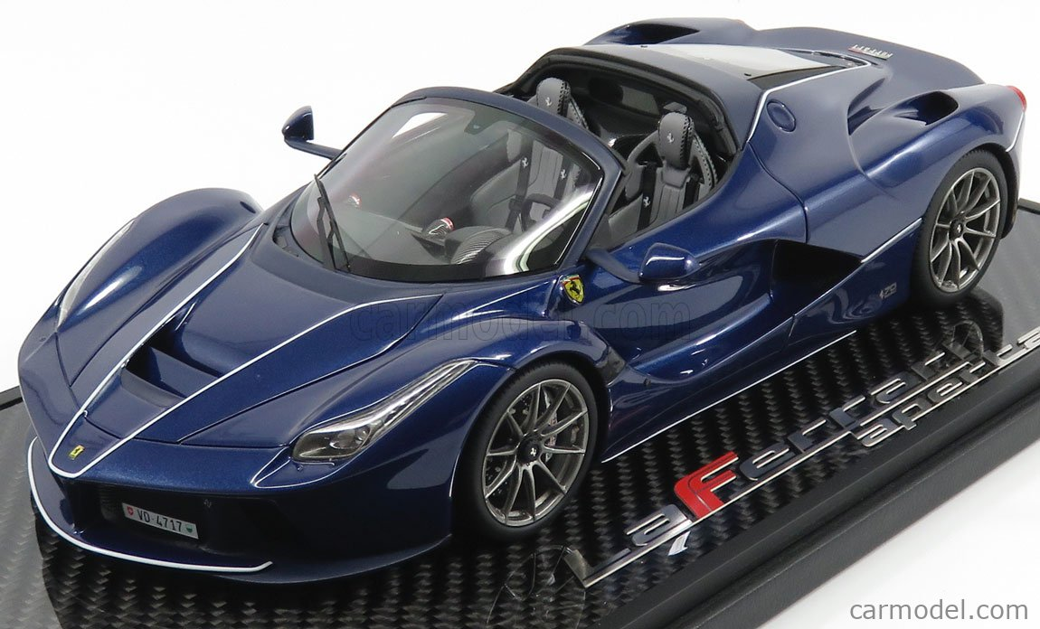 Bbr Models P18135btf Masstab 1 18 Ferrari Laferrari Aperta Spider 2016 Blue Tour De France