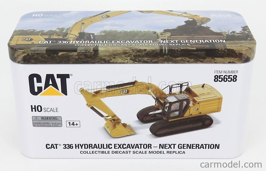 DM-MODELS 85658 Echelle 1/87  CATERPILLAR CAT336 ESCAVATORE CINGOLATO - TRACTOR HYDRAULIC EXCAVATOR YELLOW BLACK