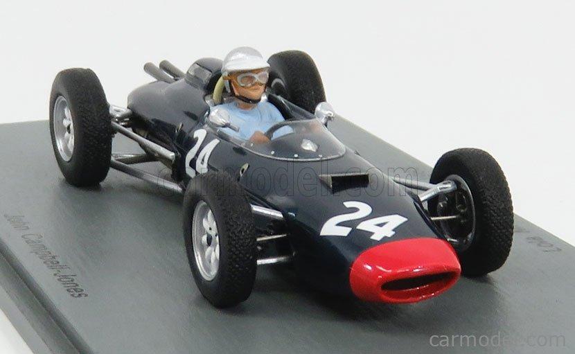 SPARK-MODEL S5332 Scale 1/43  LOLA F1  MKIV ENGLISH GP 1963 J.C.JONES BLUE RED