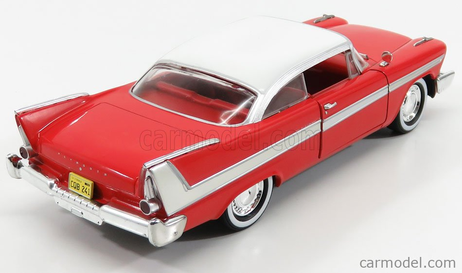 GREENLIGHT 84071 Scale 1/24  PLYMOUTH FURY 2-DOOR 1958 - CHRISTINE LA MACCHINA INFERNALE RED WHITE