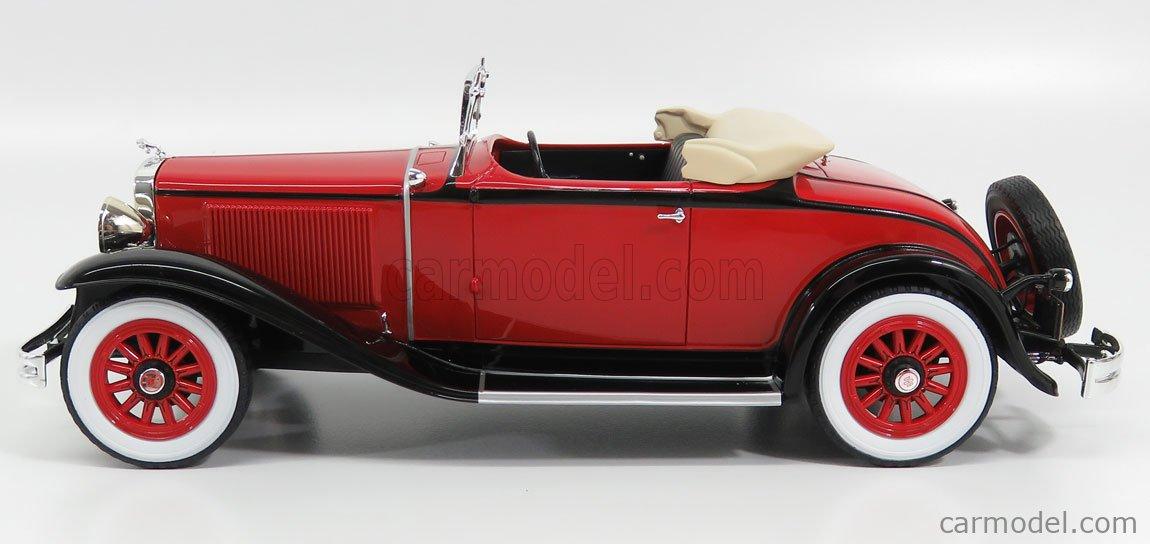 BoS-MODELS BOS293 Echelle 1/18  DODGE EIGHT DG CABRIOLET SPIDER OPEN 1934 RED BLACK