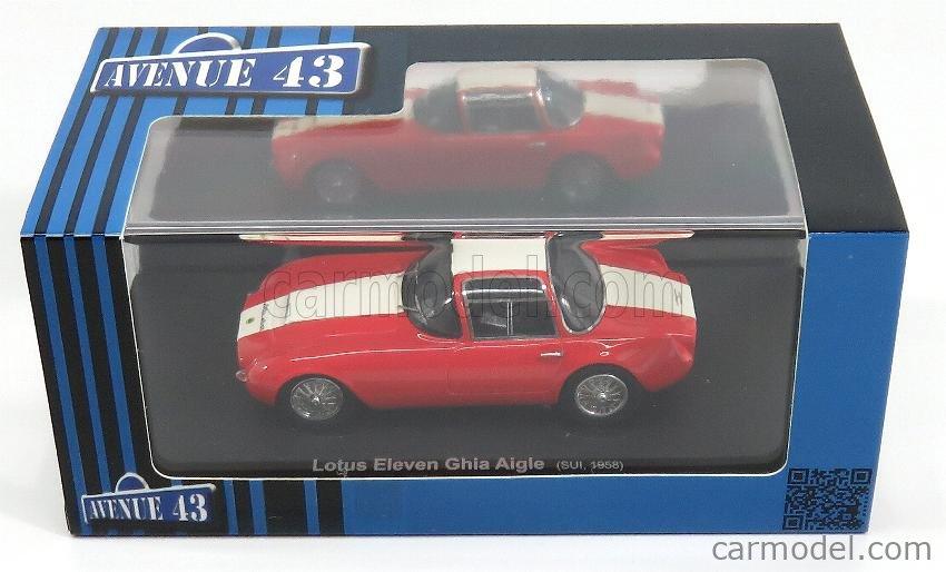 AVENUE43 ATC60016 Scale 1/43  LOTUS GHIA AIGLE ELEVEN IX SWISS 1957 RED WHITE