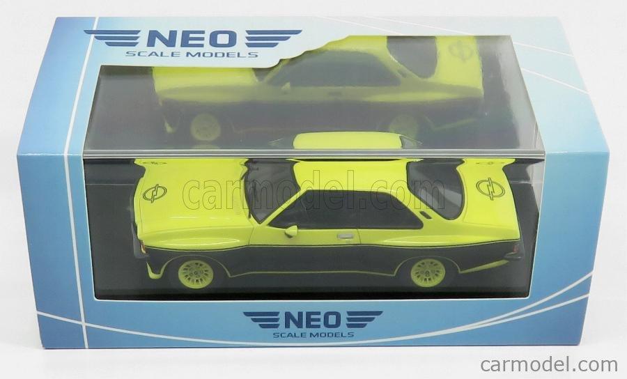 NEO SCALE MODELS NEO46116 Echelle 1/43  OPEL COMMODORE B STEINMETZ GS-E 1971 YELLOW BLACK