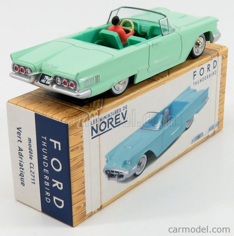 Les miniatures de NOREV CL2711 Ford Thunderbird 1960 Adriatic Green 1//43