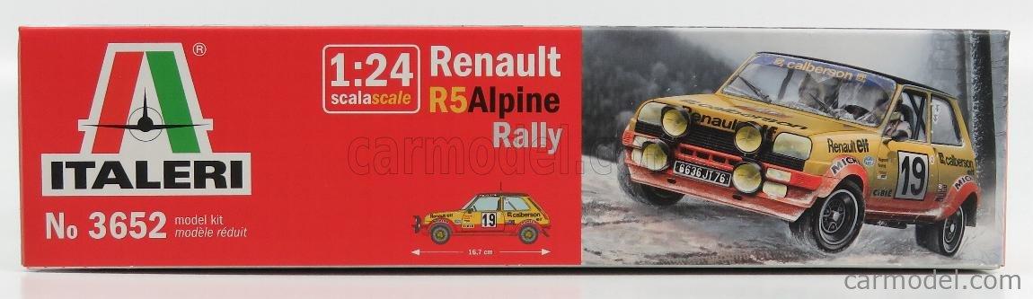 ITALERI IT3652 Echelle 1/24  RENAULT 5 ALPINE TURBO N 19 RALLY MONTECARLO 1978 J.RAGNOTTI - J.M.ANDRIE + 5 ALPINE TURBO N 12 RALLY MONTECARLO 1978 F.DELAVAL /