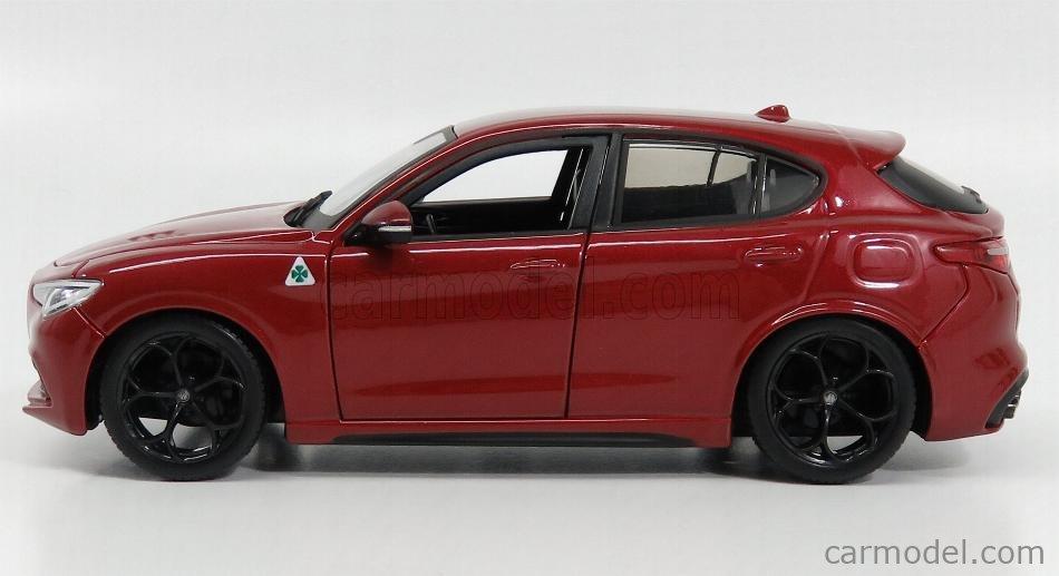 Alfa Romeo Stelvio Q4 Quadrifoglio V6 2017 Rosso Alfa Red BURAGO 1:24 BU21086R