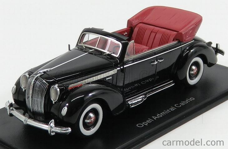 NEO SCALE MODELS NEO49561 Scale 1/43  OPEL ADMIRAL CABRIOLET OPEN 1938 BLACK