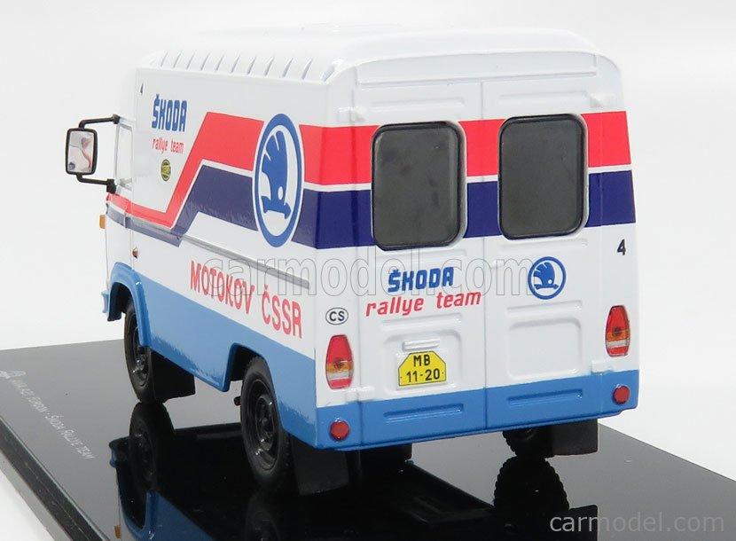 CAL CAL001 Masstab: 1/43  SAVIEM AVIA A21 VAN N 4 RALLY SKODA ASSISTANCE 1989 WHITE BLUE