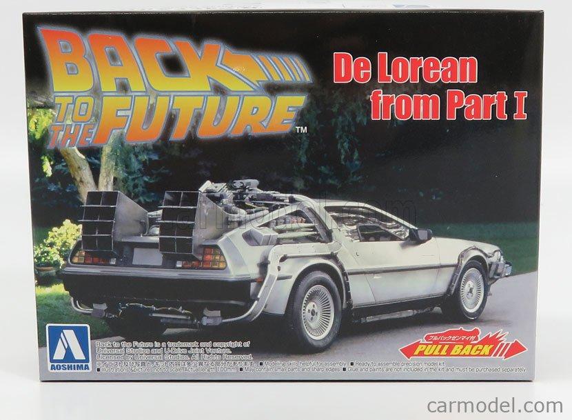 AOSHIMA-KIT 05475 Echelle 1/43  DE LOREAN TIME MACHINE - BACK TO THE FUTURE 1 - RITORNO AL FUTURO 1 SILVER