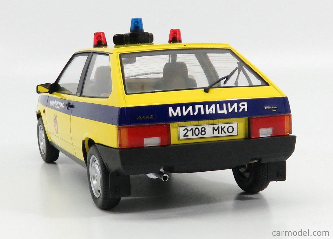 KK-SCALE KKDC180216 Scale 1/18  LADA SAMARA RUSSIAN POLICE 1984 YELLOW BLUE