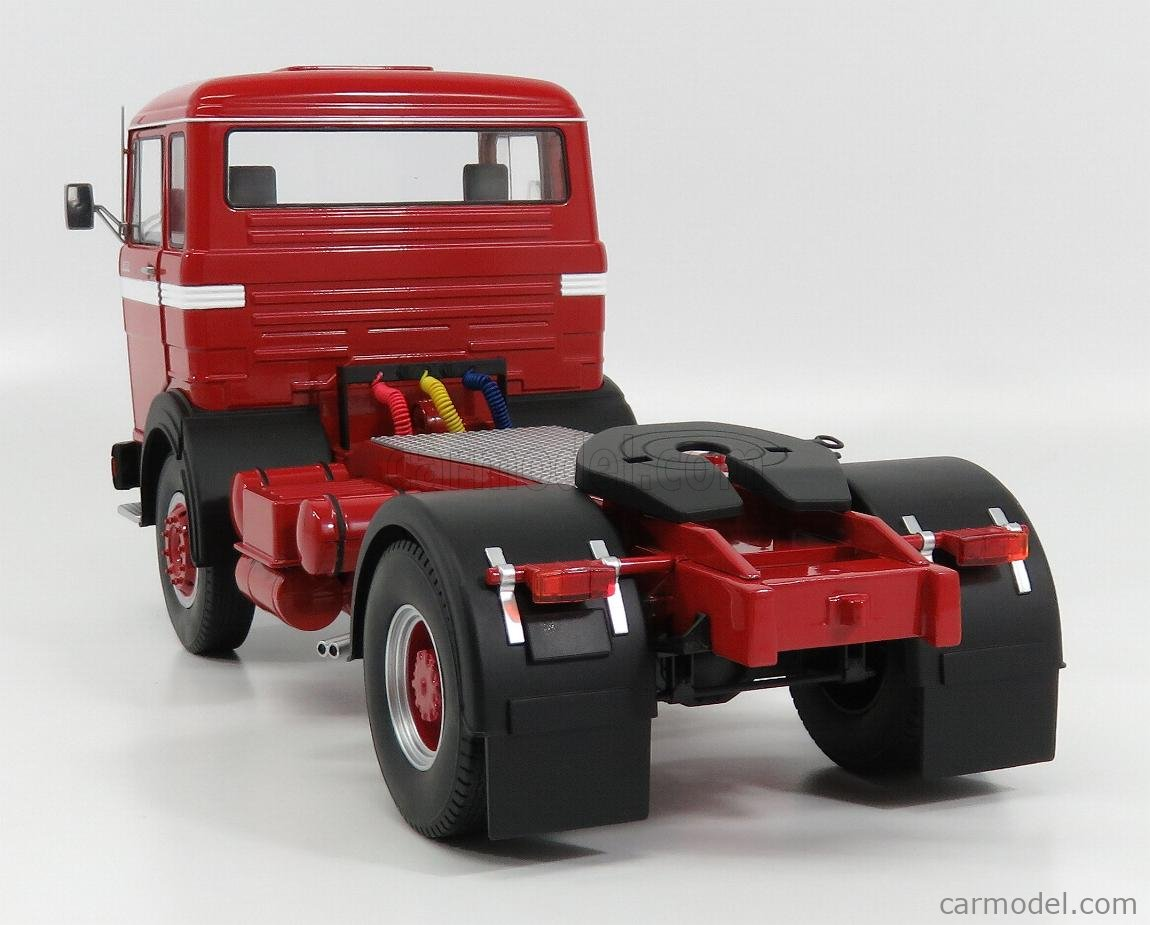 ROAD-KINGS RK180021 Scale 1/18  MERCEDES BENZ LPS 1632 TRACTOR TRUCK 1969 RED