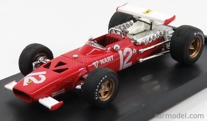 BRUMM R256B Echelle 1/43  FERRARI F1 312 N 12 MEXICO GP 1969 PEDRO RODRIGUEZ RED