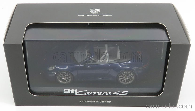 MINICHAMPS WAP0201730K Masstab: 1/43  PORSCHE 911 992 CARRERA 4S CABRIOLET OPEN 2019 BLUE MET