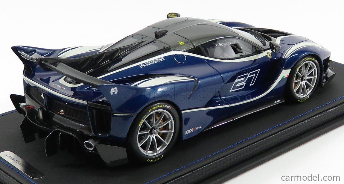 Bbr Models P18158c Scale 1 18 Ferrari Fxx K Evo N 27 2017 Blue Tour De France