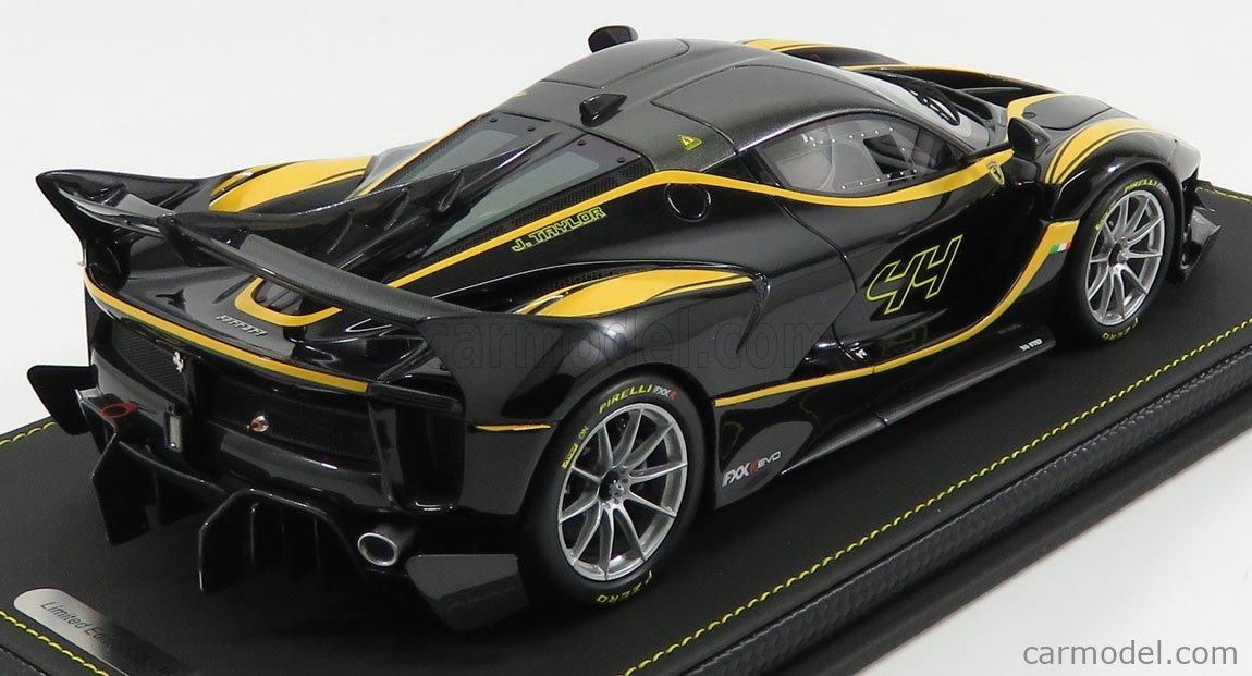 Bbr Models P18158d Scale 1 18 Ferrari Fxx K Evo N 44 2017 Nero Stellato Black Met