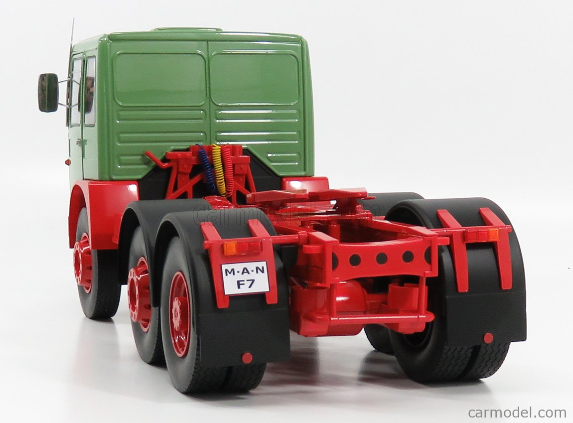 ROAD-KINGS RK180052 Scale 1/18  MAN 16304 F7 TRACTOR TRUCK 1972 GREEN RED