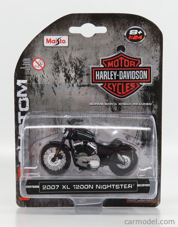 MAISTO 07063 Scala 1/24  HARLEY DAVIDSON XL 1200N NIGHTSTER 2007 BLACK