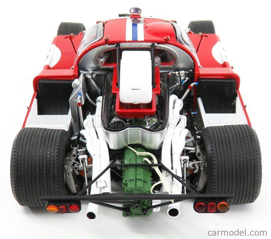 GMP M1801002 Scale 1/18  FERRARI 512M ch.1020 TEAM N.A.R.T. NORTH AMERICAN RACING TEAM N 12 3rd 24h LE MANS 1971 SAM POSEY - TONY ADAMOVICZ  RED WHITE