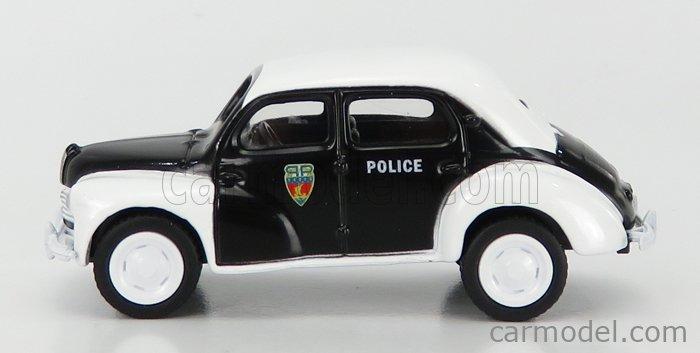 NOREV 319250-319251 Scale 1/64  RENAULT 4CV POLICE 1955 BLACK WHITE