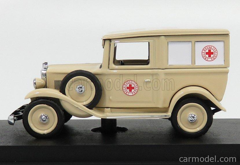 RIO-MODELS 4594 Scale 1/43  FIAT 508 BALILLA AMBULANZA MILITARY AFRICA 1935 CREAM