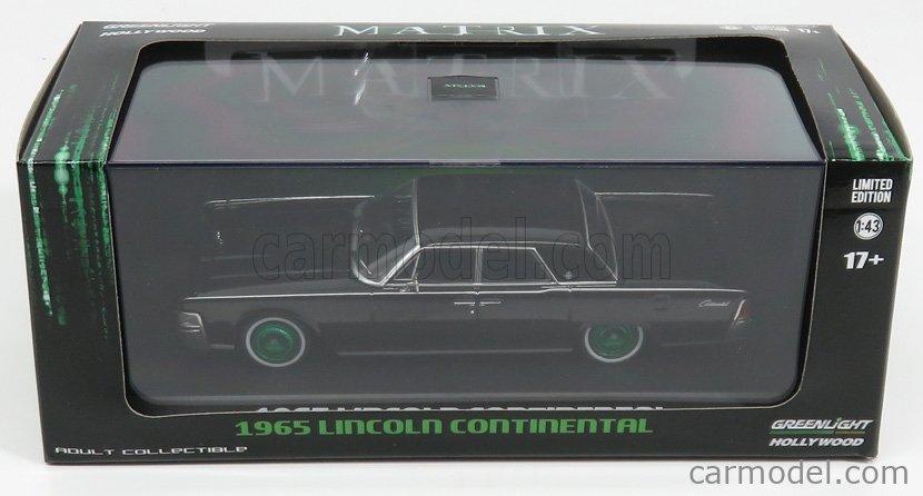 GREENLIGHT 86512 Scale 1/43  LINCOLN CONTINENTAL 1965 - MATRIX - GREEN WHEELS BLACK