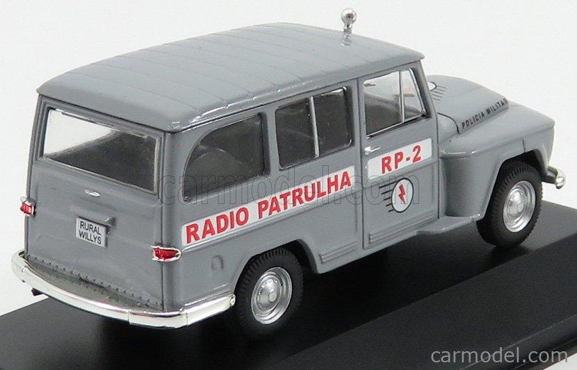 EDICOLA DEAGDOBRASCOLL006 Echelle 1/43  RURAL WILLYS RADIO PATRULHA POLICIA MILITARY POLICE 1970 GREY