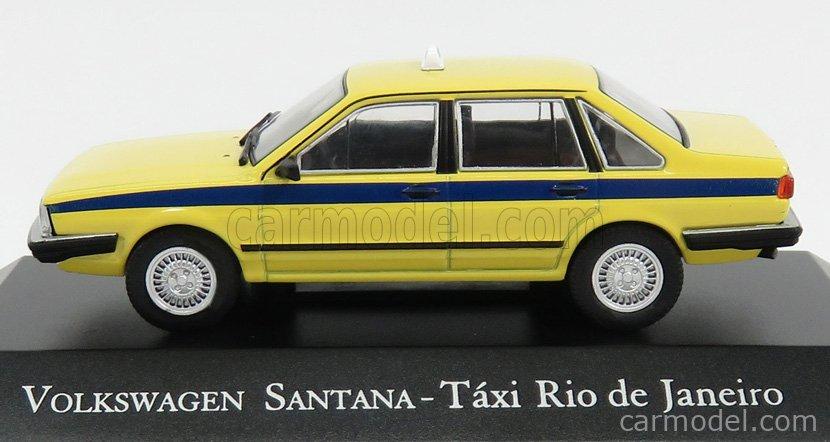 EDICOLA DEAGDOBRASCOLL005 Scale 1/43  VOLKSWAGEN SANTANA TAXI RIO DE JANEIRO 1986 YELLOW BLUE