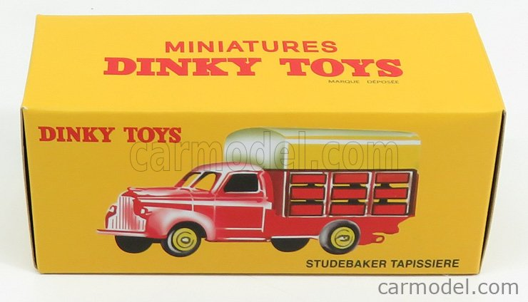 EDICOLA 25L Scale 1/43  STUDEBAKER TRUCK TAPISSIERE PICK-UP CLOSED 2-ASSI 1960 RED YELLOW