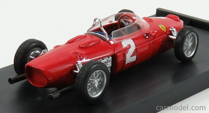 BRUMM R639 Echelle 1/43  FERRARI F1  156 N 2 WINNER ITALY GP PHIL HILL 1961 WORLD CHAMPION RED