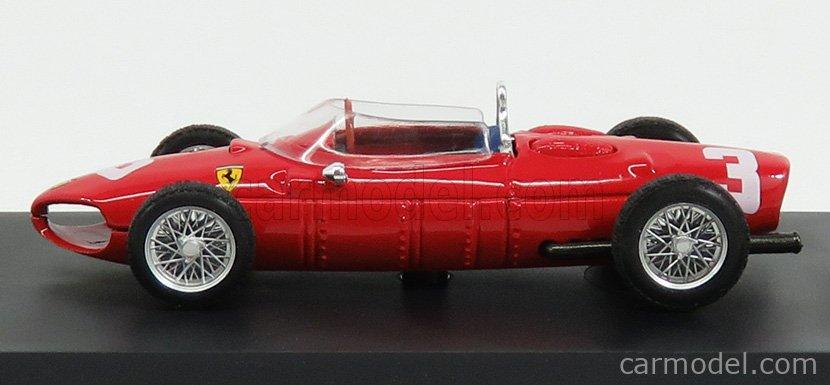 BRUMM R123-UPD Echelle 1/43  FERRARI F1  156 N 3 WINNER DUTCH GP 1961 W.VON TRIPS RED