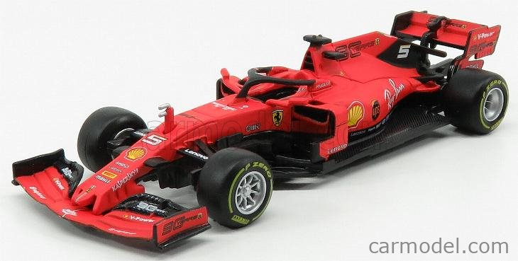Burago BU36814V Ferrari SF90 Sebastian Vettel 2019 N.5 Australian Signature 1:43 Compatible con