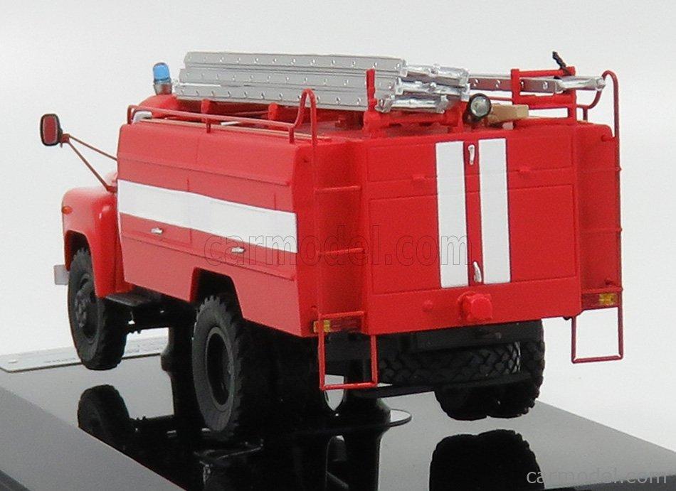 SPARK-MODEL 105337 Scale 1/43  GAZ AC-30-106G TANKER TRUCK FIRE ENGINE 1991 RED WHITE