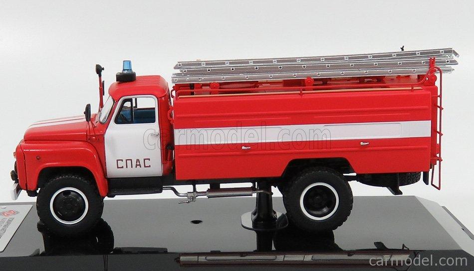 SPARK-MODEL 105336 Scale 1/43  GAZ AC-30-106G TANKER TRUCK FIRE ENGINE 1991 RED WHITE