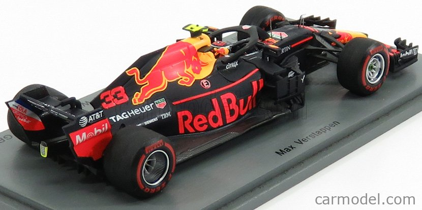 SPARK-MODEL S6066 Масштаб 1/43  RED BULL F1  RB14 TEAM ASTON MARTIN TAG HEUER N 33 WINNER MEXICO GP 2018 M.VERSTAPPEN BLUE RED