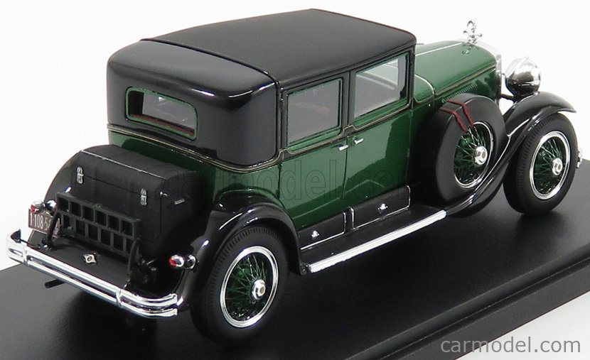 ESVAL MODEL EMUS43077A Masstab: 1/43  CADILLAC 341A TOWN SEDAN PERSONAL CAR AL CAPONE - 1928 ARMOURED CAR GREEN MET BLACK