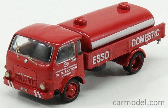 IV-MODEL IV87/133 Masstab: 1/87  OM FIAT LEONCINO TANKER TRUCK AUTOBOTTE ESSO DOMESTIC SARTORI 1962 RED