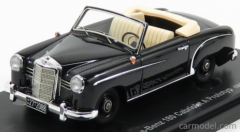 AVENUE43 ATC60004 Scale 1/43  MERCEDES BENZ 180 CABRIOLET PROTOTYPE GERMANY 1953 BLACK