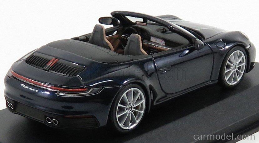 MINICHAMPS WAP0201710K Masstab: 1/43  PORSCHE 911 992 CARRERA S CABRIOLET 2019 NIGHT BLUE MET