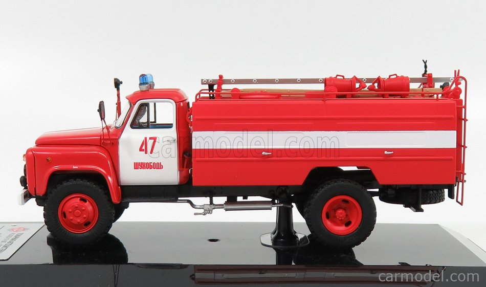 SPARK-MODEL 105335 Scale 1/43  GAZ AC-30-106G TANKER TRUCK FIRE ENGINE 1987 RED