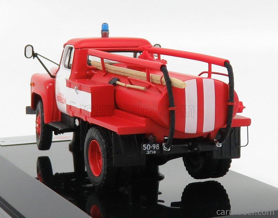 SPARK-MODEL 105231 Echelle 1/43  GAZ ATSU-10 TANKER TRUCK FIRE ENGINE 1975  RED