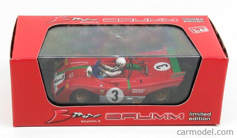 BRUMM R261B-CHM Echelle 1/43  FERRARI 312PB N 3 WINNER TARGA FLORIO 1972 MERZARIO - MUNARI RED