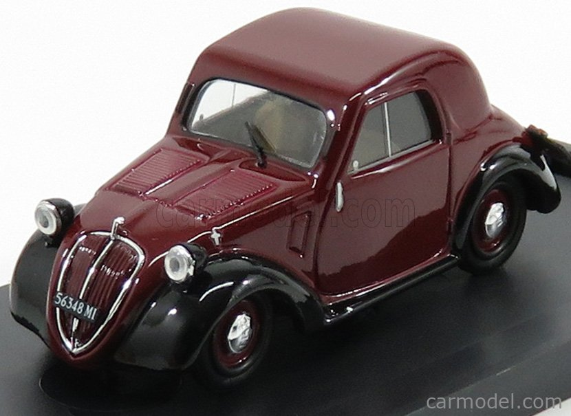 BRUMM R022-02 Escala 1/43  FIAT 500A TOPOLINO TETTO METALLICO 1936 BORDEAUX BLACK
