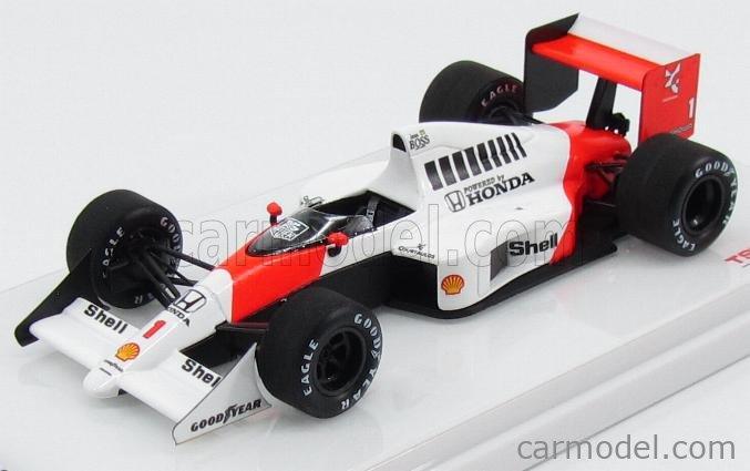 TRUESCALE TSM154336 Masstab: 1/43  McLAREN  F1  MP4/5 N 1 WINNER GERMAN GP 1989 A.SENNA WHITE RED